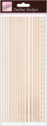 DO samolepky ANT 810289 Assorted Borders - Rose Gold On White