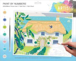 malování podle čísel DOA 550700 - Country Cottage-obsahuje vše, aby vaše děti mohly začít hned po vybalení malovat