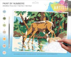 malování podle čísel DOA 550701 - Woodland Deer-obsahuje vše, aby vaše děti mohly začít hned po vybalení malovat