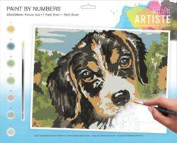 malování podle čísel DOA 550702 - Dog-obsahuje vše, aby vaše děti mohly začít hned po vybalení malovat