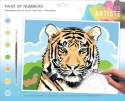 malování podle čísel DOA 550706 - Regal Tiger-obsahuje vše, aby vaše děti mohly začít hned po vybalení malovat