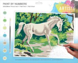 malování podle čísel DOA 550707 - Mystical Unicorn-obsahuje vše, aby vaše děti mohly začít hned po vybalení malovat