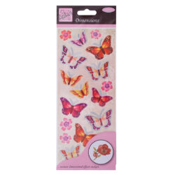 žDO samolepky ANT 8161007 prostorové Buterflies Red & Pink