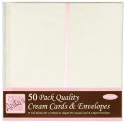 DO obálky+karty ANT 1513021 DL cream 50ks