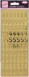 DO samolepky ANT 8101008 čísla zlatá