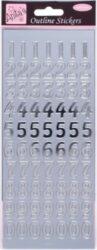 DO samolepky ANT 8101009 čísla stříbrná