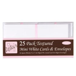 DO obálky+karty ANT 1515000 10 x 10 cm bílé  25ks + karty