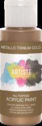 DO barva akryl. DOA 763102 59ml Metallic Titanium Gold-akrylová barva ARTISTE metalická