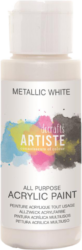 DO barva akryl. DOA 763106 59ml Metallic White-akrylová barva ARTISTE metalická