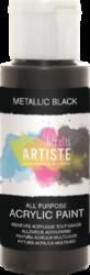 DO barva akryl. DOA 763112 59ml Metallic Black-akrylová barva ARTISTE metalická