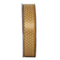 žDO stuha ANT 378405 3m tečkovaná GOLDEN SHINE