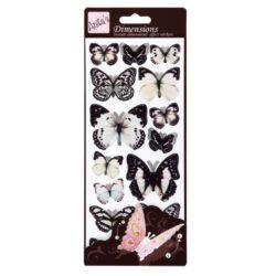 žDO samolepky ANT 816120 motýli WHITE