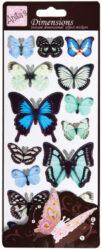 žDO samolepky ANT 816110 prostorové motýli BLUE