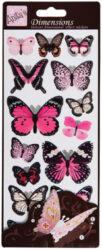 žDO samolepky ANT 816111 prostorové motýli PINK