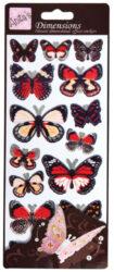 žDO samolepky ANT 816113 motýli RED