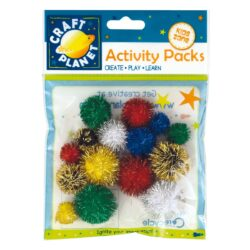 DO pompoms CPT 6621100 assort glitter 15ks
