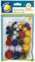 DO pompoms CPT 6621101 assort glitter 42ks