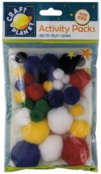 pom poms CPT 6621102 30ks mix barev
