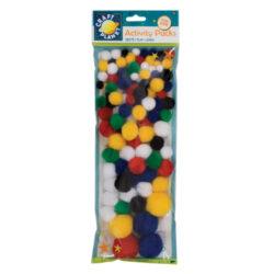 DO pompoms CPT 6621103 100ks mix barev