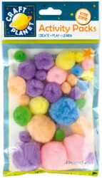 DO pompoms CPT 6621106 30ks pastel mix barev