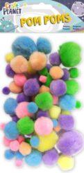pom poms CPT 6621107 100ks pastel mix barev