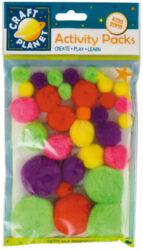 DO pompoms CPT 6621108 30ks neon mix barev