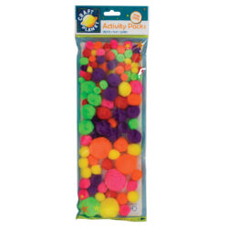 DO pompoms CPT 6621109 100ks neon mix barev