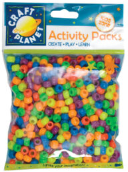 korálky plast CPT 6511104 Bright Neon (500pcs, 140g)