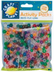 korálky plast CPT 6511106 Glitter (300pcs, 80g)