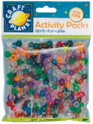 DO korálky plast CPT 6511106 Glitter (300pcs, 80g)