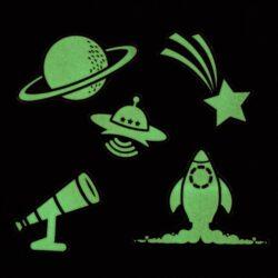 DO samolepky CPT 680923 svítící ve tmě - Outer Space(5050784089499)