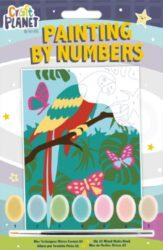 malování podle čísel CPT 658707 mini - Parrot-obsahuje vše, aby vaše děti mohly začít hned po vybalení malovat
