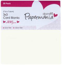 DO obálky+karty PMA 151001 7,6x7,6cm 20ks (300gr) krémové