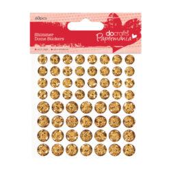 DO glitrové čočky PMA 805904 samolepicí 60ks Gold