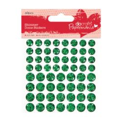 DO glitrové čočky PMA 805905 samolepicí 60ks Green