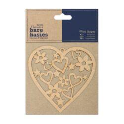žDO výřez PMA 174609 dřevěný Heart*