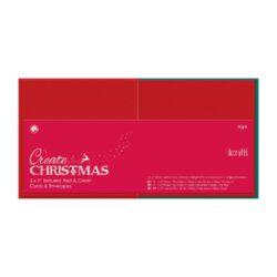 DO obálky+karty PMA 151905 čtverec červená/zelená 50ks