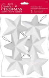 polystyren W hvězda PMA 827912 10cm 6ks - závěs