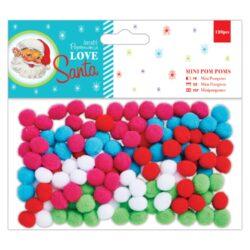 DO pompoms mini PMA 105905 120ks Love Santa