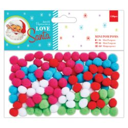 DO pompoms mini PMA 105905 120ks Love Santa