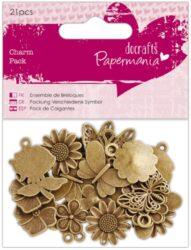 dekorace PMA 356014 kov 21ks Flowers & Butterflies