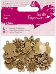 DO dekorace PMA 356014 kov 21ks Flowers & Butterflies