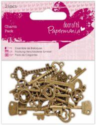 dekorace PMA 356015 kov 21ks Vintage Keys
