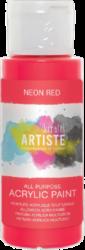 DO barva akryl. DOA 766075 59ml Neon Red-akrylová barva ARTISTE neonová