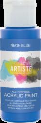 DO barva akryl. DOA 766077 59ml Neon Blue-akrylová barva ARTISTE neonová