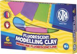 modelína ASTRA teplem tvrditelná  6 barev - FLUO-TEPLEM TVRDITELNÁ