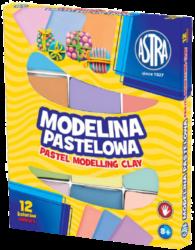 modelína ASTRA teplem tvrditelná 12 barev - PASTEL-TEPLEM TVRDITELNÁ