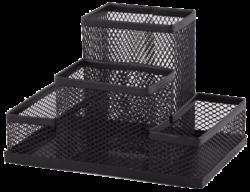 stojánek drátěný víceúčelový Combo černý 4 přihrádky