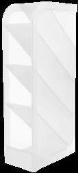 stojánek plexi na kuličková pera čirý 110813-Rozměry: 202 x 50 x 90 mm