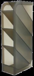 stojánek plexi na kuličková pera kouřový 110814-Rozměry: 202 x 50 x 90 mm